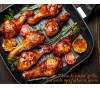 Pilons de poulet grillés, marinade aux herbes et aux épices