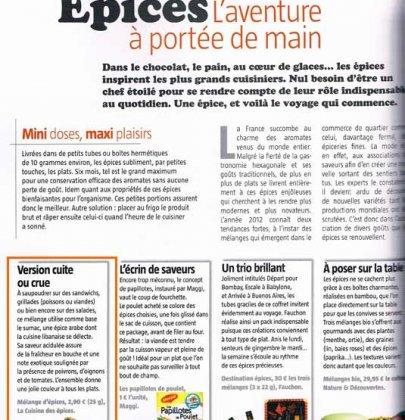 La Cuisine des Epices est dans le Magazine Régal