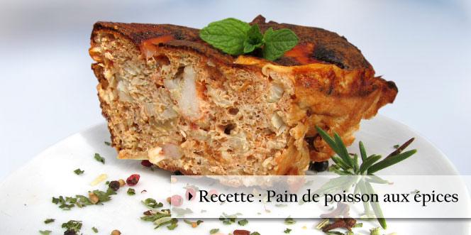 Pain de poisson extra parfumé et moelleux, aux épices