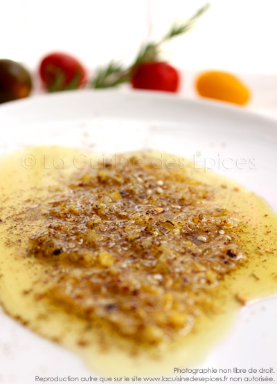 Sauce vinaigrette Zaatar