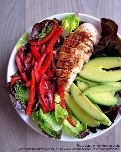 Salade de poulet tex-mex